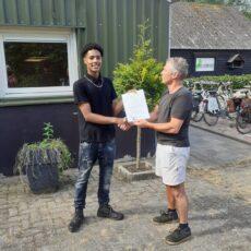 Flevodrome reikt certificaten uit!